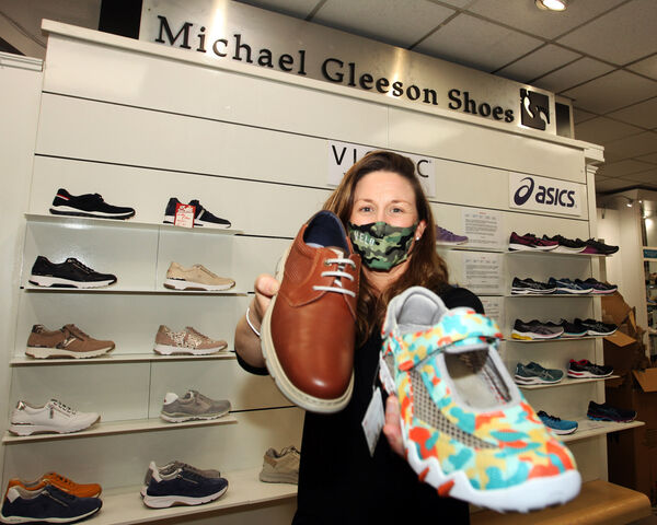 Dervla Gleeson, manager of Michael Gleeson Shoes, William Street, Limerick: 'It's going to be a busy couple of weeks.' Picture: Brendan Gleeson