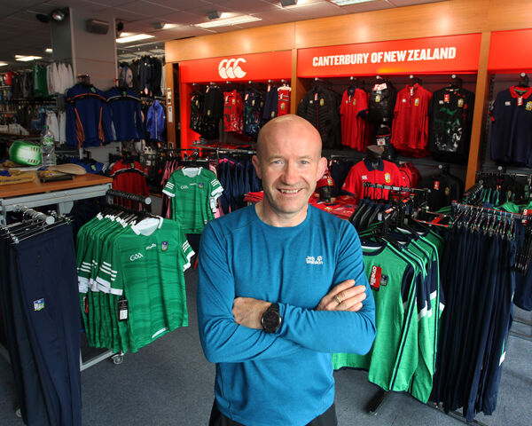 Steve Gleeson, Gleeson Sports Scene, Upper William Street, Limerick: 'Everyone is flat out inside, and we are fairly happy with how things are going.' Picture: Brendan Gleeson