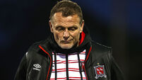 Jim Magilton dejected after the game 7/5/2021