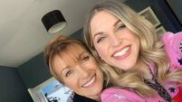 Amy Huberman and Jane Seymour bond on set as they unite to work on new drama