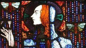 Cork in 50 Artworks, No 4: St Gobnait stained glass window, Honan Chapel, UCC