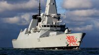 HMS Dragon in British yacht crew rescue