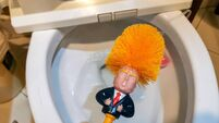 CHINA-US-TRUMP-TOILET-BRUSH