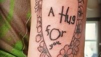 Cork student pays tribute to Toy Show star with touching 'hug for you' tattoo