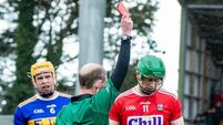 Seamus Harnedy receives a red card 10/3/2019