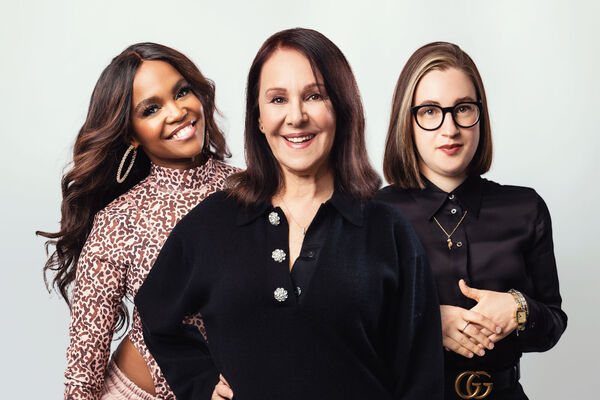 Oti Mabuse, Arlene Phillips and Gabriella Slade who are all set to work on musical The Cher Show. Picture: Oliver Rosser/PA Wire