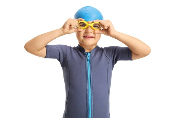 Pictured: A child, possibly yours, is getting ready for a swim in the kid's pool you couldn't find yesterday.