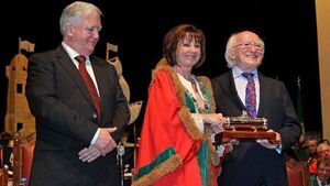 President Higgins receives Freedom of Cork