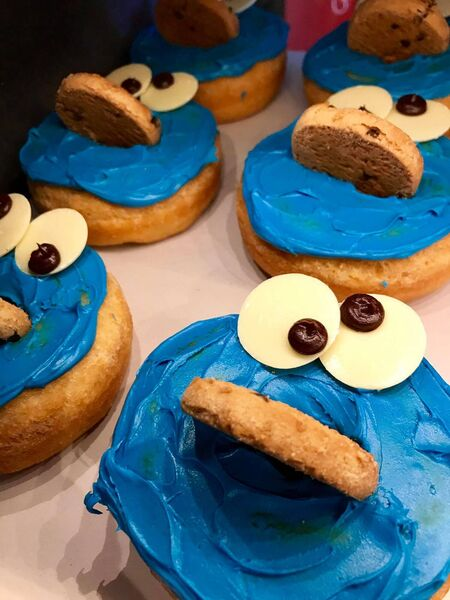 The Cookie Monster donut at Dungeons and Donuts, Galway.