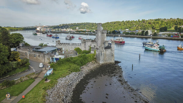 A flotilla of fishing boats passing Blackrock Castle on their way to the Port of Cork on May 26. Picture Dan Linehan