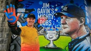 Jim Gavin brings Sam Maguire to 5-in-a-row mural unveiling in Dublin
