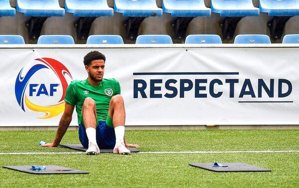 Andrew Omobamidele berlatih bersama skuad Ireland di Andorra awal bulan ini.  Gambar: INPHO / Bagu Blanco
