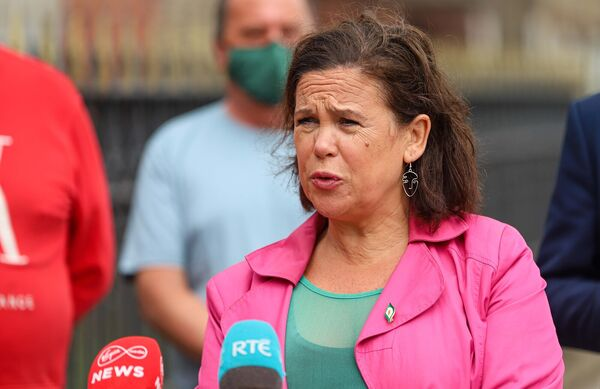 Among younger voters, Mary Lou McDonald's Sinn Féin remains the party of choice. Picture: Damien Storan