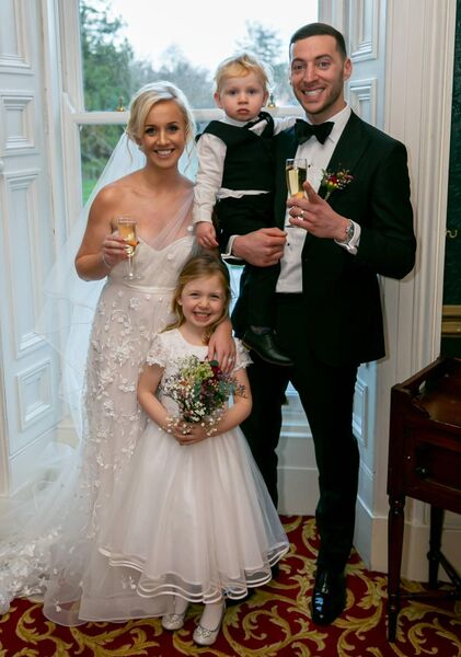 Shóna Murphy and Daniel Bloom with Isabelle and Harry Bloom