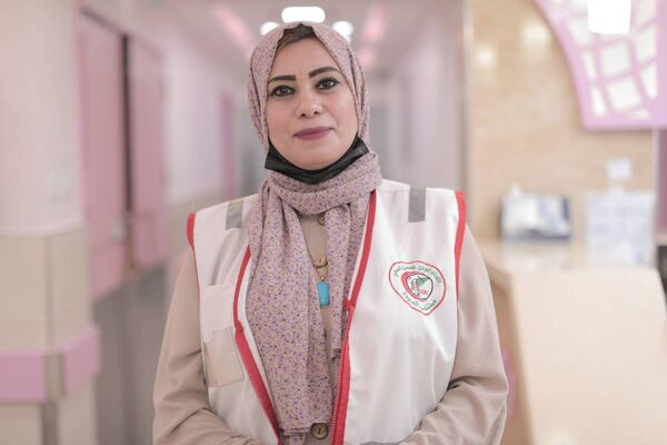 Helana Mesleh works as a psychologist at Al-Awda Hospital in northern Gaza.  Some women were unable to breastfeed, hug, or even accept their babies because they came under difficult circumstances.  Picture.  ActionAid Palestine via ActionAid Ireland: