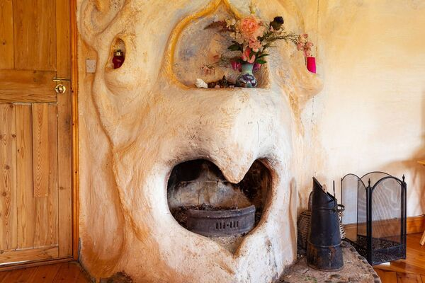 Owl hearth with heart