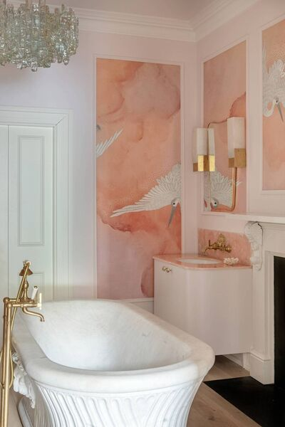 Joyful space: Suzie's bathroom.  Photo: Ruth Maria Murphy