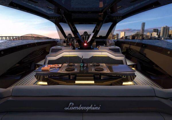 An interior shot of the Lamborghini Tecnomar. Picture: @Lamborghini/Instagram