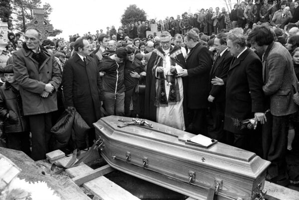 Hurling legend Christy Ring died of a heart attack on March 4, 1979. The number of people who attended her funeral was estimated to be between 50 and 60,000. Photo: Irish Examiner / Ref 225/263