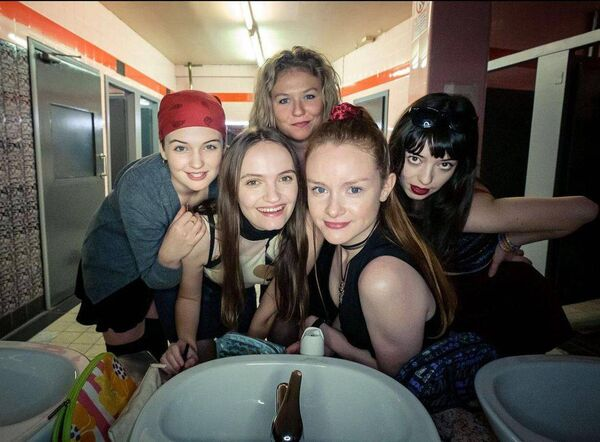 Think of the Derry Girls on a bender filled with alcohol.