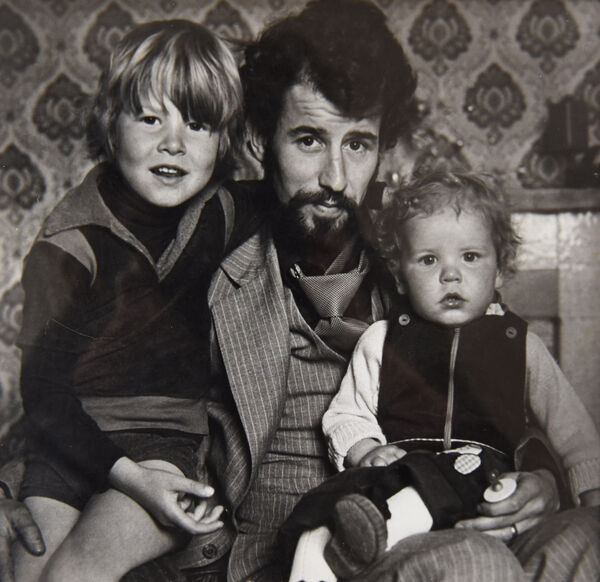 """Osgur Breatnach with his children soon after his release from prison following the court of appeal's ruling that the convictions were based on confessions that were obtained """"under oppression"""". Photo: Moya Nolan"""