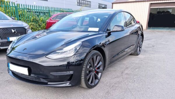 A Tesla recovered today at Blanchardstown. Picture: Gardaí