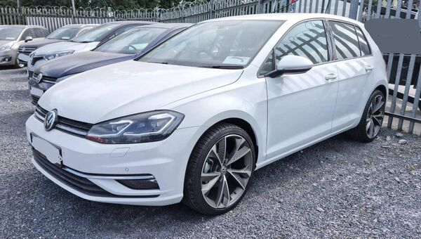 Another Volkswagen Golf recovered from the dealership in       Dublin. Picture: Gardaí