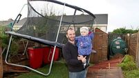 Storm causing travel chaos; trampoline damages overhead rail lines