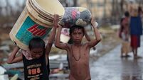 Typhoon aid 'not reaching victims'