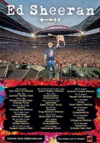 Ed Sheeran tour dates 2022