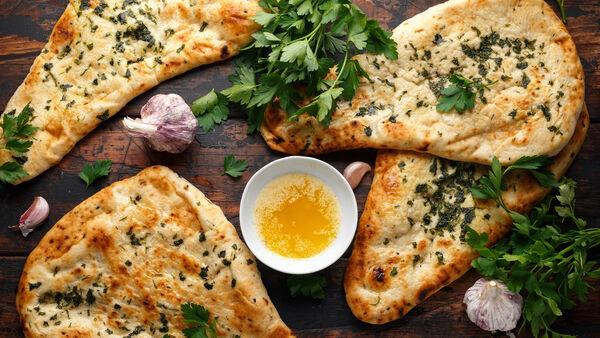 Three-ingredient naan bread