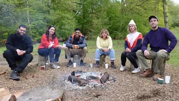 Some of the participants in Outsiders. Picture: PA Photo/UKTV/Steve Peskett