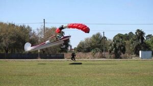VIDEO: Photographer captures the moment a plane hits a skydiver