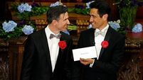 Gay couples tie the knot in the UK