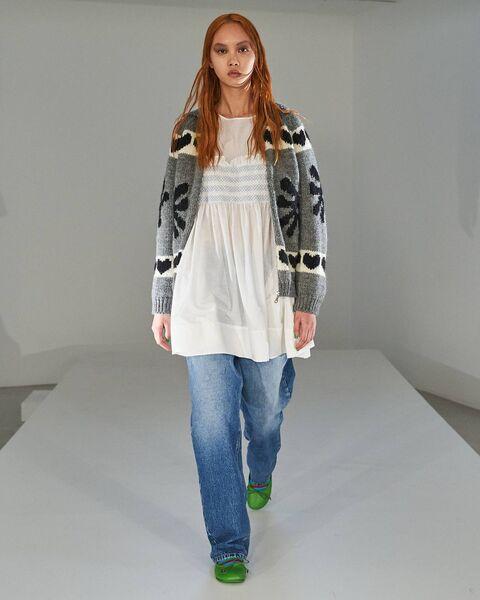 Molly Goddard SS22 at London Fashion Week.  Photo: Ben Broomfield Photography