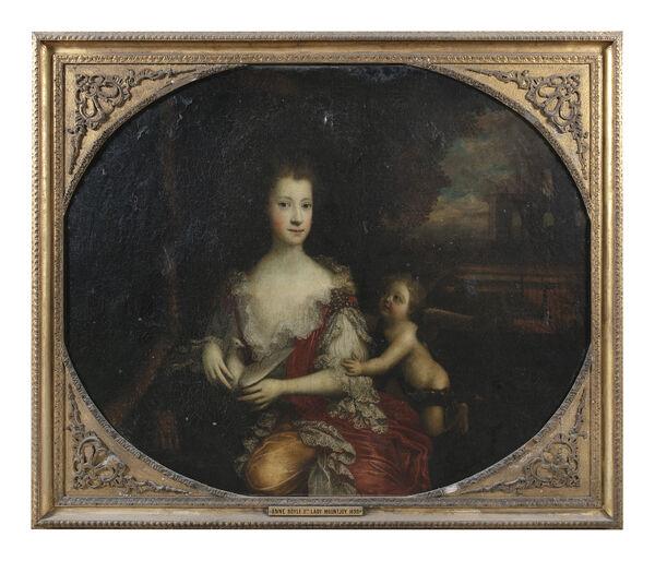 Garret Morphy (c1650-1716) - Portrait of Anne Boyle, 2nd Lady Mountjoy.
