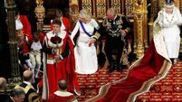 Page boy faints as Queen of England gives her speech