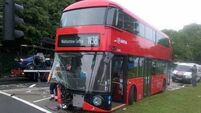 Driver dies in London bus collision