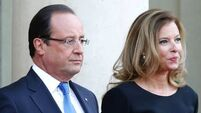 French President Hollande faces press over 'affair'