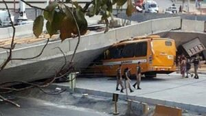 Two dead after overpass collapses in Brazil city