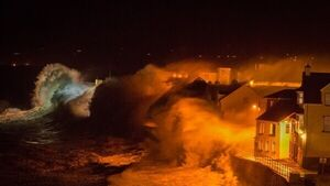 Amazing picture of Lahinch getting HAMMERED in New Year's storm