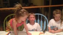 Kid finds out he's getting another sister. Is not impressed.