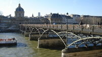 Paris bridge partially collapses under weight of thousands of 'love locks'