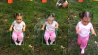 Very small girl has VERY grown-up reaction to Ice Bucket Challenge (NSFW)