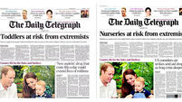 The Telegraph quickly changed their unfortunate headline/photo combo last night