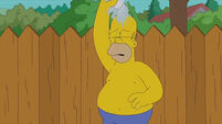 Homer Simpson takes on the Ice Bucket Challenge