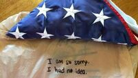 Thief grows conscience and returns stolen flag to 9/11 family