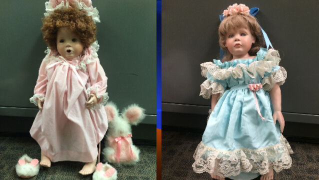 Creepy dolls left outside family homes said to be 'gesture of goodwill'