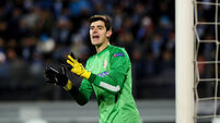 Courtois starts for Blues, again, Delaney starts for Palace