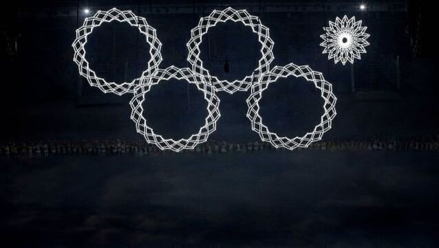 Sochi opens Games without one of the Olympic rings